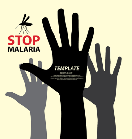 infection prevention: Stop Malaria concept vector illustration.