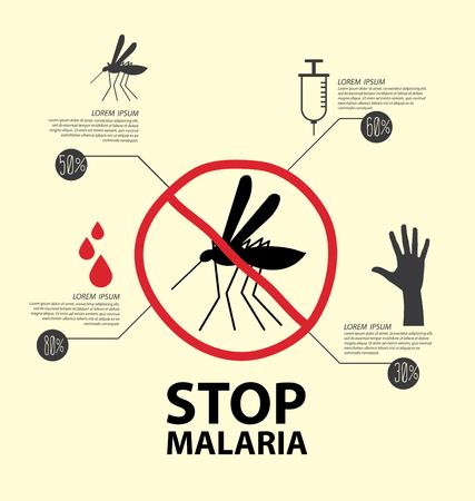 Stop Malaria concept vector illustration.
