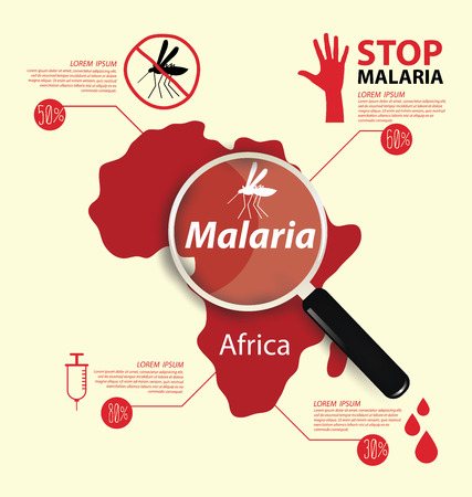 stop mosquito sign: Stop Malaria concept vector illustration.