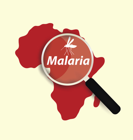 infected mosquito: Stop Malaria concept vector illustration.