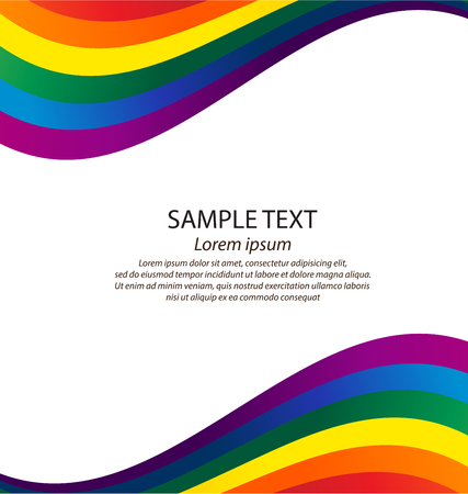 nontraditional: rainbow colors. vector background.