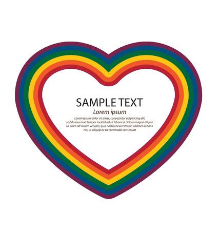 amor gay: Colores LGBT corazones, s�mbolo de amor gay, Vector de fondo. Vectores