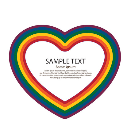 nontraditional: LGBT colors hearts, Symbol of gay love, Vector background.