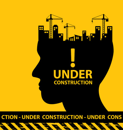 construction project: under construction background vector illustration
