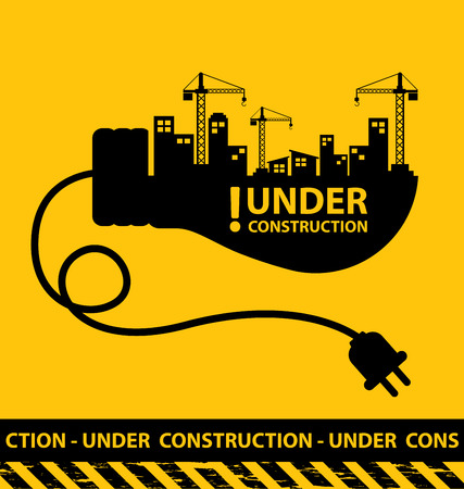 under construction background vector illustration Фото со стока - 45878065