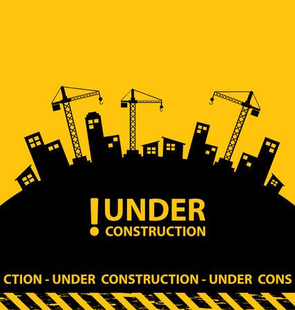 construction tools: en construcción de fondo ilustración vectorial Vectores