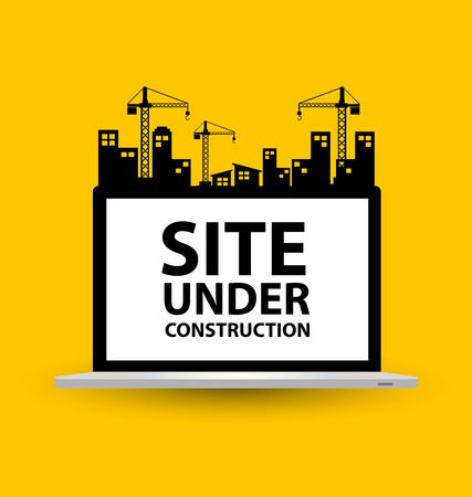work in progress: under construction background vector illustration