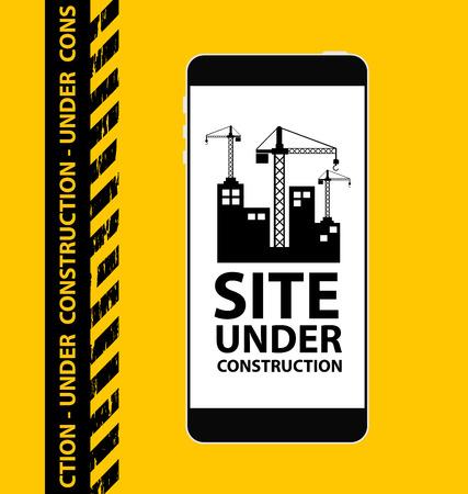 rebuild: under construction background vector illustration