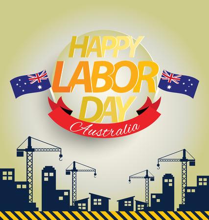 Labor day Australia Illustration