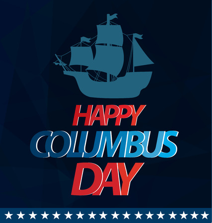 cristoforo colombo: Vector illustration Columbus Day.