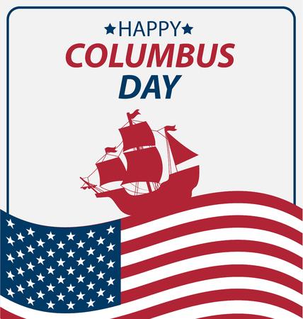 colonization: Vector illustration Columbus Day.