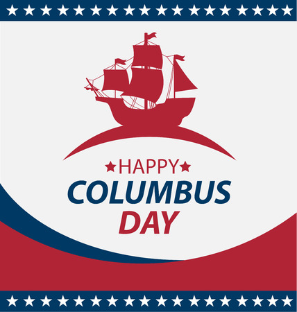 Vector illustration Columbus Day.