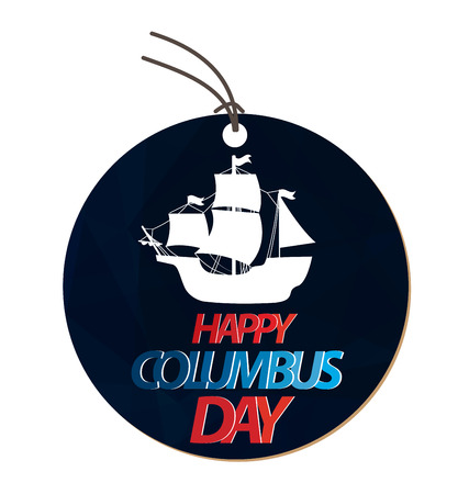 pioneer: Vector illustration Columbus Day.