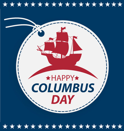cristoforo colombo: Illustrazione Columbus Day.