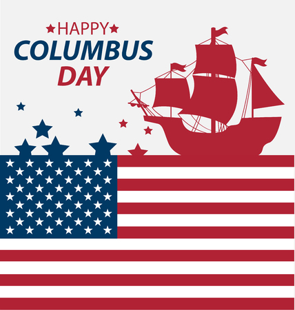christopher columbus: Vector illustration Columbus Day.