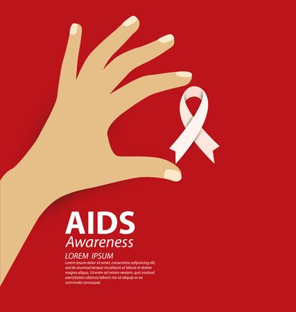 aids: Aids Awareness. illustration. Illustration