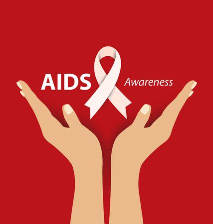 life and death: Aids Awareness. illustration. Illustration
