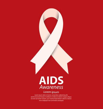 alert ribbon: Aids Awareness. illustration. Illustration