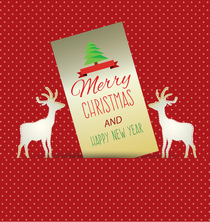 deluxe: Christmas Greeting Card. Vector illustration. Illustration