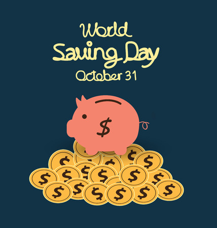 passive earnings: World savings day. vector illustration.
