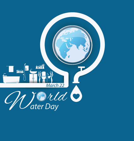 Save water. World Water Day concept. Vector illustration.