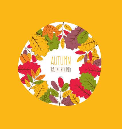 autumn leaves background: autumn leaves background