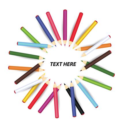 colouration: Colored pencil vector illustration Illustration