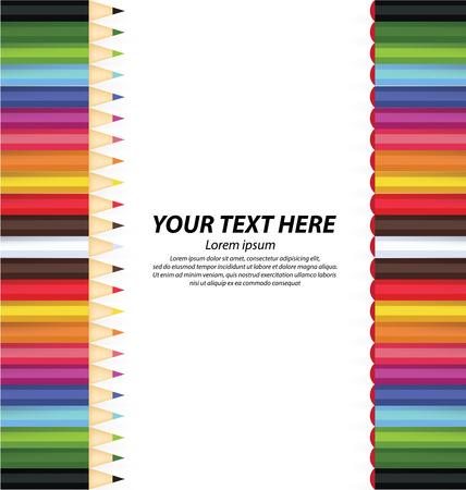 wooden pencil: Colored pencil vector illustration Illustration