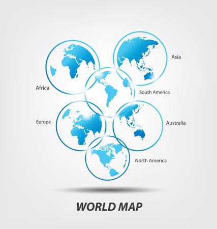 World Map vector Illustration  イラスト・ベクター素材