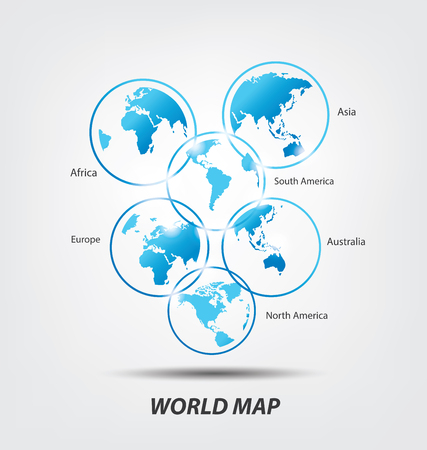 World Map vector Illustration Illusztráció