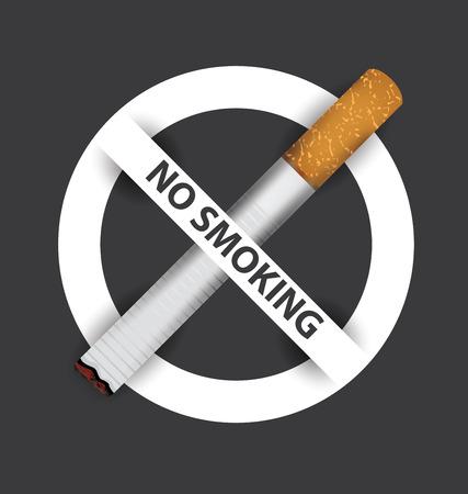 prohibido fumar: señal de no fumar. ilustración vectorial.