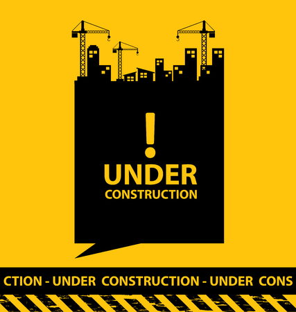 under construction background vector illustration Banco de Imagens - 46184048