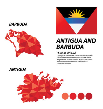 antigua and barbuda: Antigua and Barbuda geometric concept design