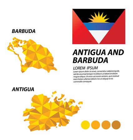 barbuda: Antigua and Barbuda geometric concept design