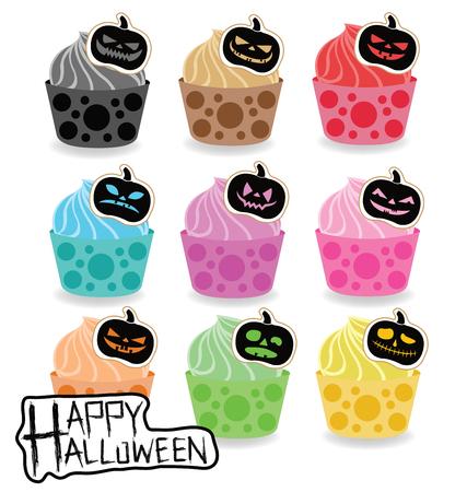 cupcake illustration: Halloween cupcake vector illustration. Illustration