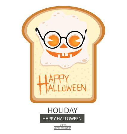 europe closeup: Halloween illustration.