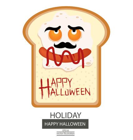 smilling: Halloween illustration.
