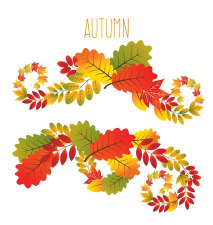 autumn background:   autumn leaves background Illustration