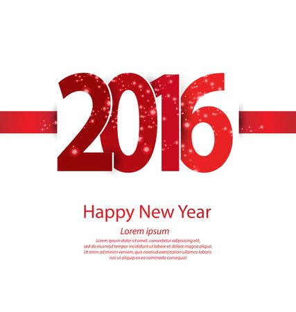 Happy new year 2016 Stock Illustratie