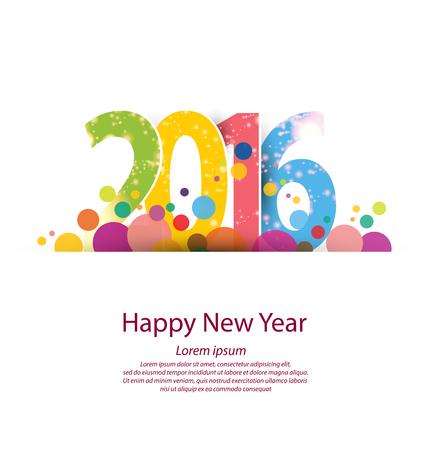 nowy: Szczęśliwego nowego roku 2016 Ilustracja