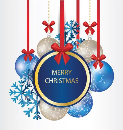 greeting christmas: Christmas Greeting Card. Vector illustration. Illustration