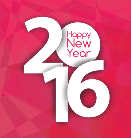 numbers background: Happy new year 2016 Illustration