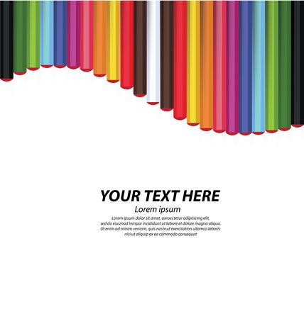 Crayon de couleur illustration vectorielle