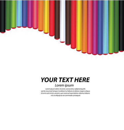 Ejemplo coloreado del lápiz del vector Foto de archivo - 49712086