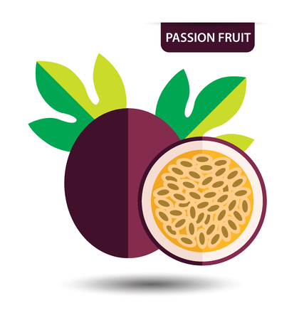 passion: passion fruit, fruit vector illustration Illustration