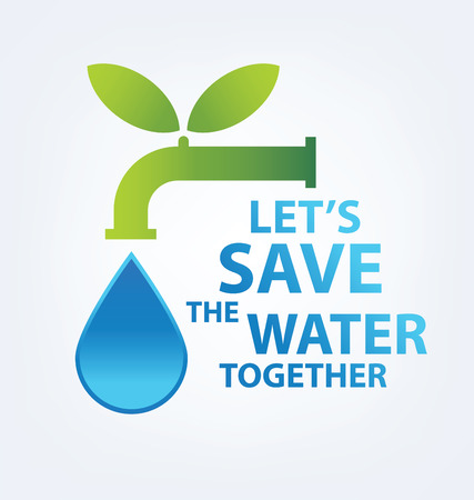 recycling campaign: Save water concept. Vector illustration.