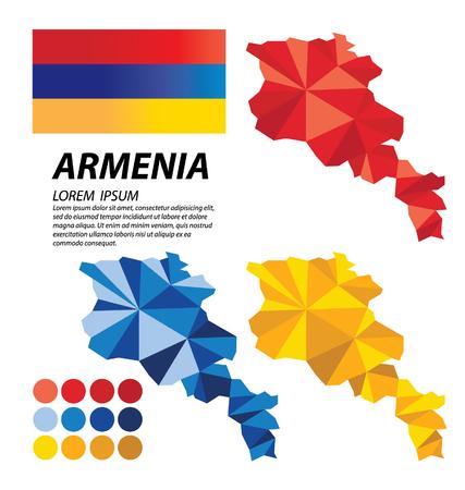 armenia: Republic of Armenia geometric concept design