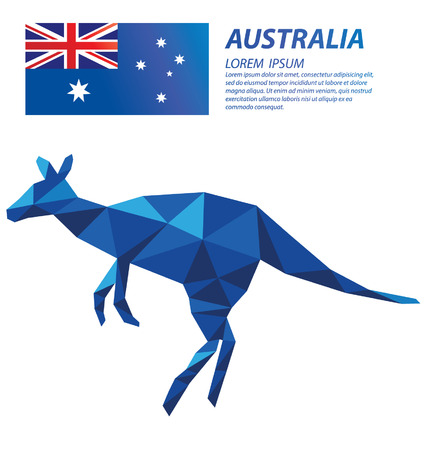 Australia geometric concept design Ilustrace