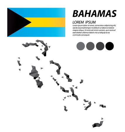 bahamas: Bahamas geometric concept design Illustration
