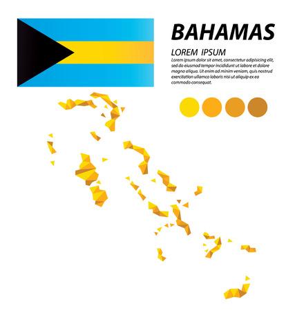 Bahamas geometric concept design Illustration